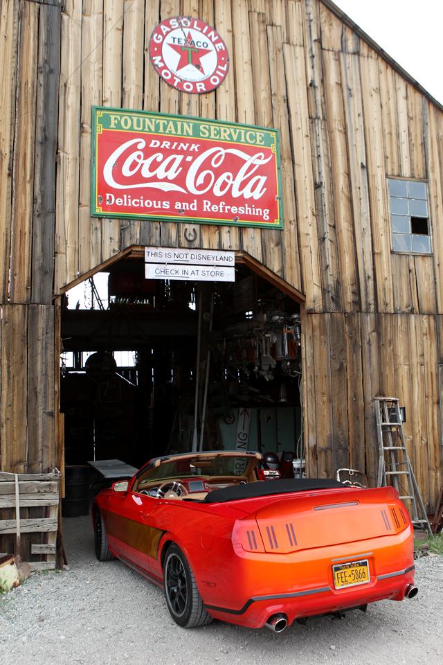Rear view photo: Popular Mechanics Top Shop: Netcong Auto Restorations, 2011 Custom Mustang GT