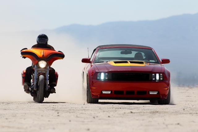 Action Shot: Front shot photo: Popular Mechanics Top Shop: Netcong Auto Restorations, 2011 Custom Mustang GT