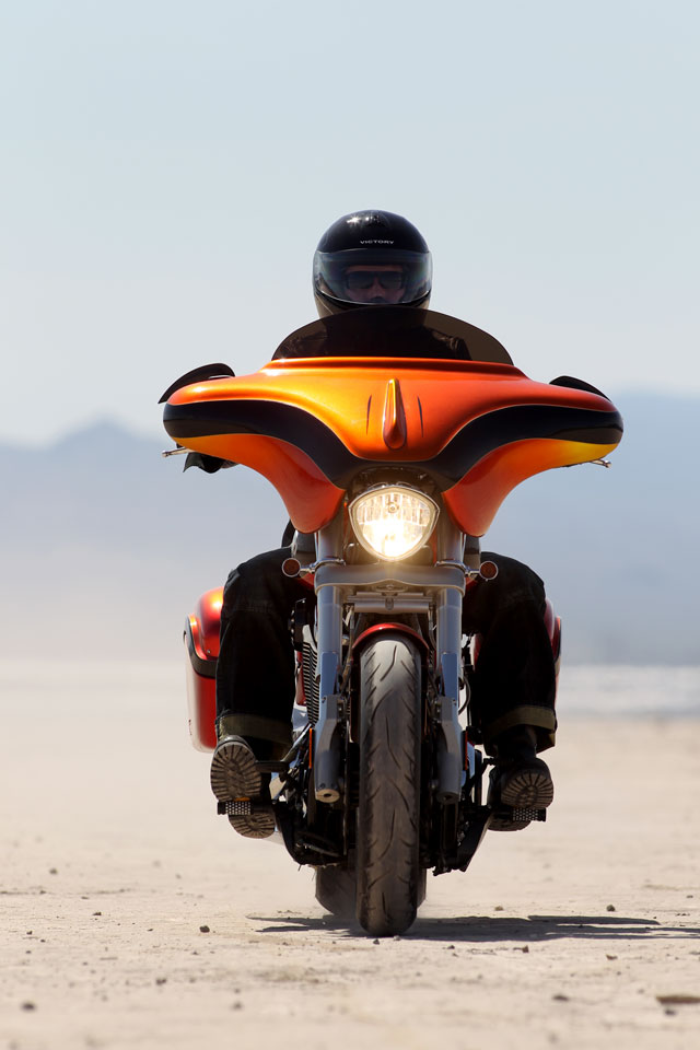 Action Shot: Popular Mechanics Top Shop: Netcong Auto Restorations, 2011 Custom Victory S Motorcycle