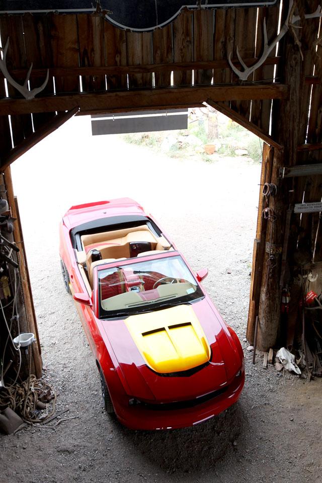 Top view photo: Fabrication: Popular Mechanics Top Shop: Netcong Auto Restorations, 2011 Custom Mustang GT