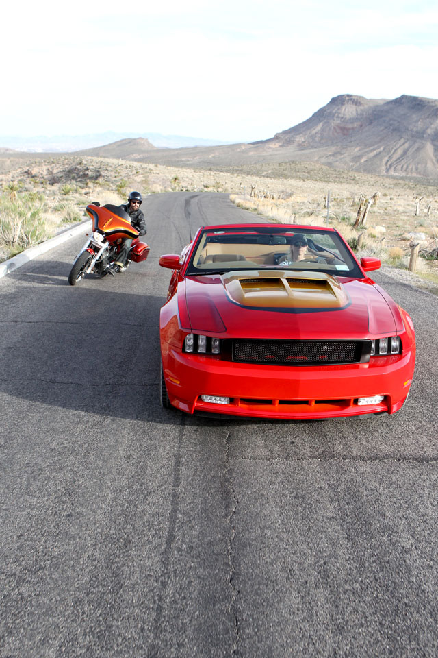 Action Shot: Popular Mechanics Top Shop: Netcong Auto Restorations, 2011 Custom Mustang GT